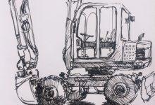 Grävmaskiner och omvägar