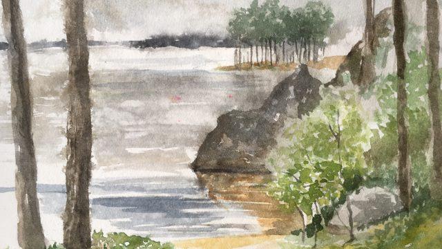 Akvarell i småregn